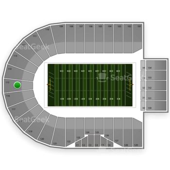 Purdue Boilermakers Football at Ross-Ade Stadium Section 115 View