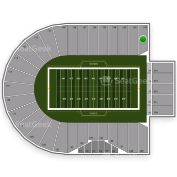Purdue Boilermakers Football at Ross-Ade Stadium Section 101 View
