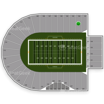 Purdue Boilermakers Football at Ross-Ade Stadium Section 102 View
