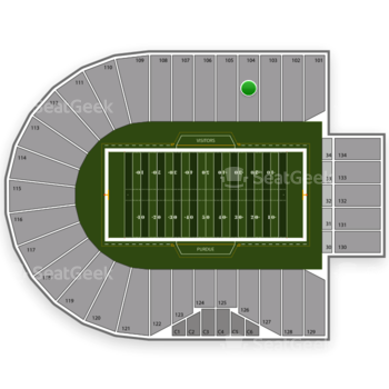 Purdue Boilermakers Football at Ross-Ade Stadium Section 104 View