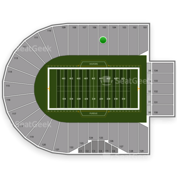 Purdue Boilermakers Football at Ross-Ade Stadium Section 105 View