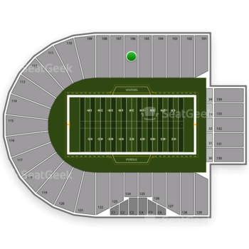 Purdue Boilermakers Football at Ross-Ade Stadium Section 106 View