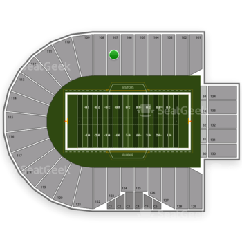 Purdue Boilermakers Football at Ross-Ade Stadium Section 107 View