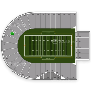 Purdue Boilermakers Football at Ross-Ade Stadium Section 113 View