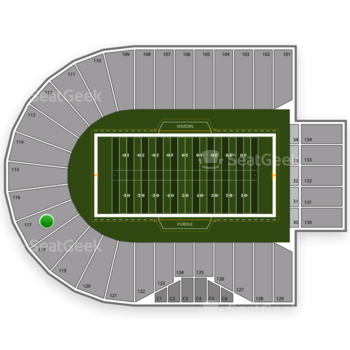 Purdue Boilermakers Football at Ross-Ade Stadium Section 117 View