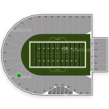 Purdue Boilermakers Football at Ross-Ade Stadium Section 118 View