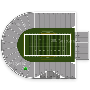 Purdue Boilermakers Football at Ross-Ade Stadium Section 120 View