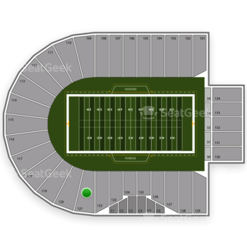 Purdue Boilermakers Football at Ross-Ade Stadium Section 121 View