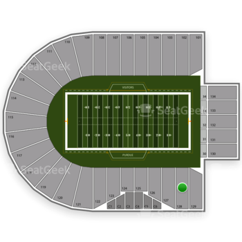 Purdue Boilermakers Football at Ross-Ade Stadium Section 128 View