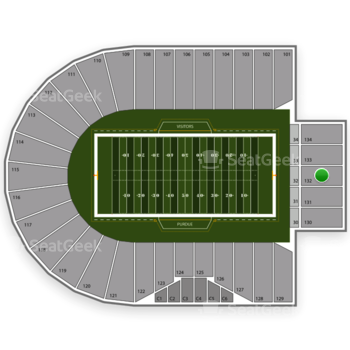 Purdue Boilermakers Football at Ross-Ade Stadium Section 132 View