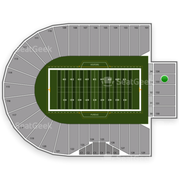 Purdue Boilermakers Football at Ross-Ade Stadium Section 133 View