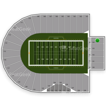 Purdue Boilermakers Football at Ross-Ade Stadium Section 134 View