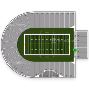 Purdue Boilermakers Football at Ross-Ade Stadium Section 31 View