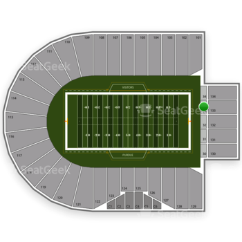 Purdue Boilermakers Football at Ross-Ade Stadium Section 33 View