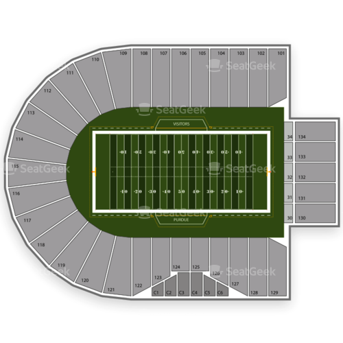 Purdue Boilermakers Football Seating Chart