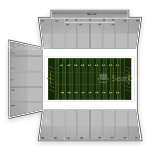 Tulsa Golden Hurricane Football Seating Chart