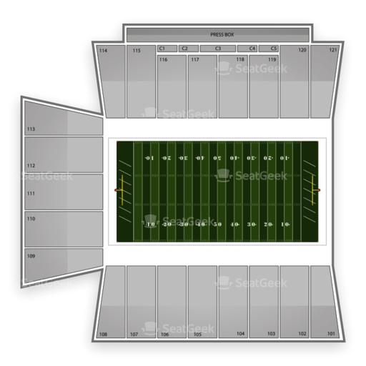 Skelly Field at H.A. Chapman Stadium Seating Chart