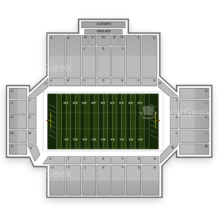 Western Michigan Broncos Football Seating Chart