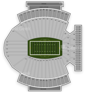 North Carolina Tar Heels Football Seating Chart