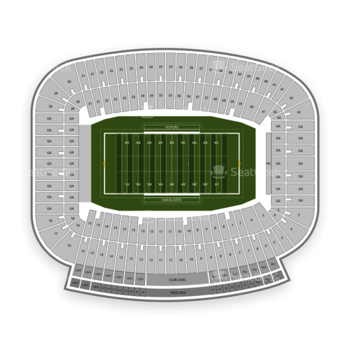 Legion Field Seating Chart Concert