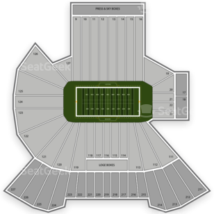 Oregon State Beavers Football Seating Chart