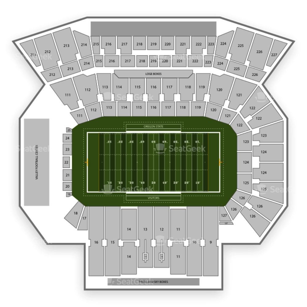 Reser Stadium Seating Chart Parking