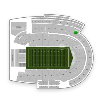 Colorado Buffaloes Football at Folsom Field Section 214 View