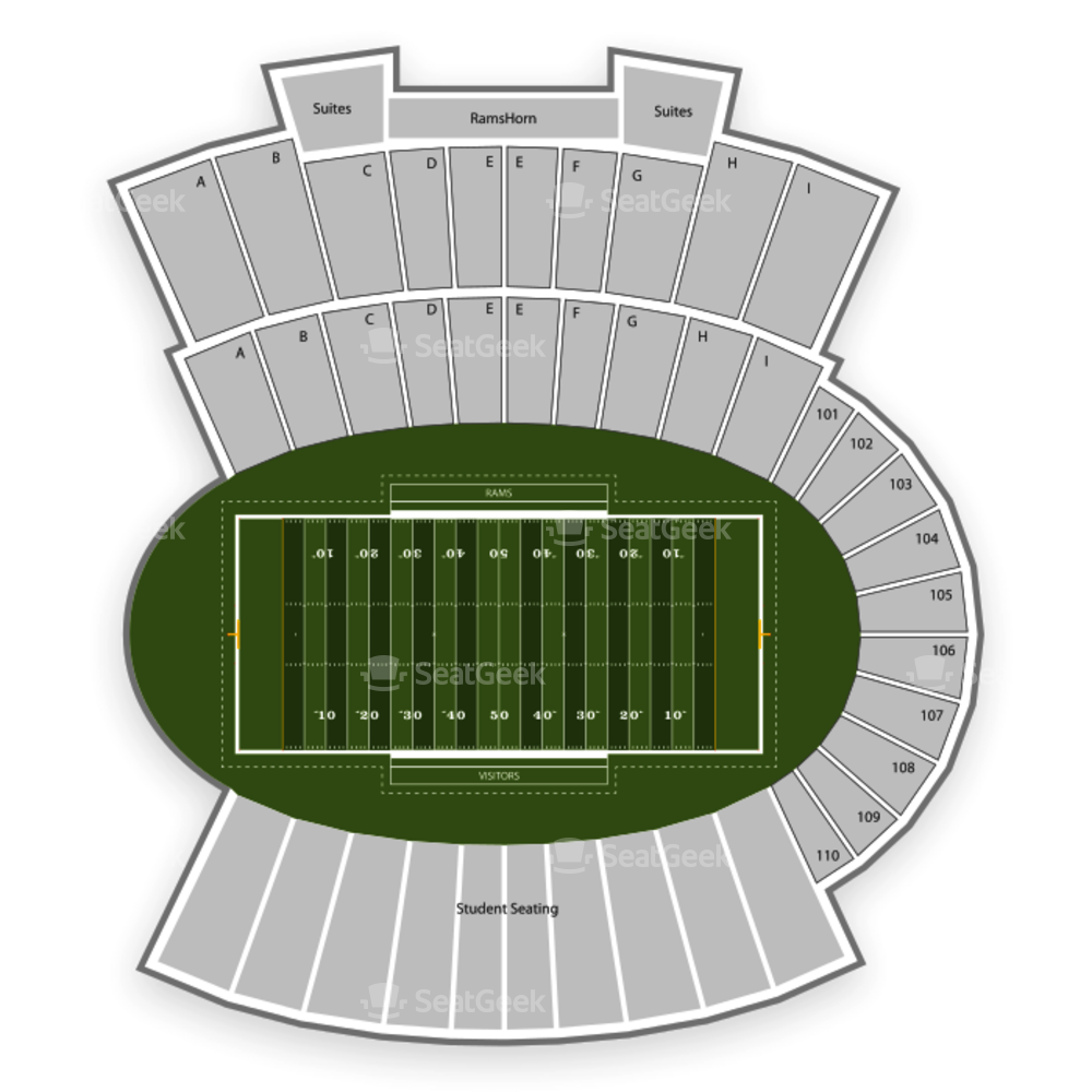 Colorado State Rams Football Seating Chart