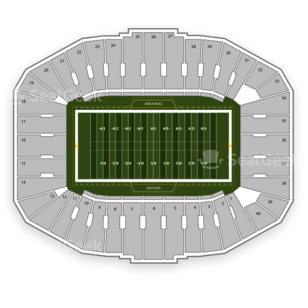 War Memorial Stadium Seating Chart NCAA Football