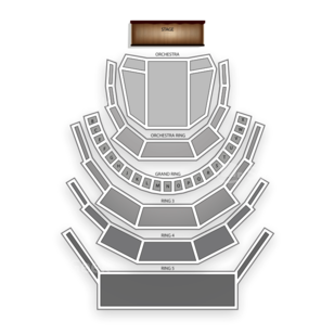 Four Seasons Centre for the Performing Arts Seating Chart Classical Opera