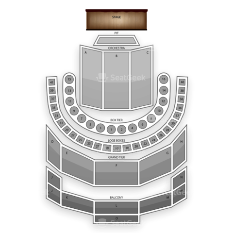Brown Theatre (Houston) seating chart Swan Lake