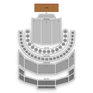 Brown Theatre (Houston) Seating Chart Classical Opera