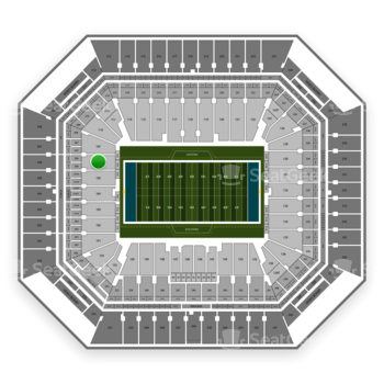 Miami Dolphins at Hard Rock Stadium Section 106 View