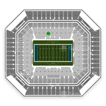 Miami Dolphins at Hard Rock Stadium Section 117 View
