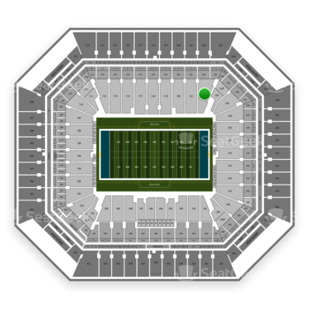 Miami Dolphins at Hard Rock Stadium Section 122 View