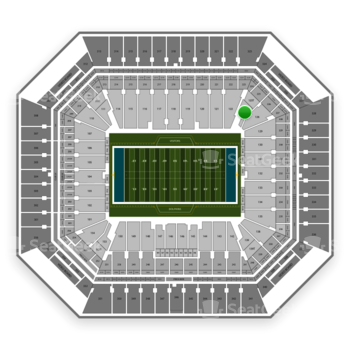 Miami Dolphins at Hard Rock Stadium Section 125 View