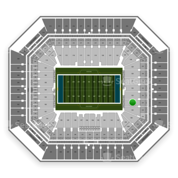 Miami Dolphins at Hard Rock Stadium Section 134 View