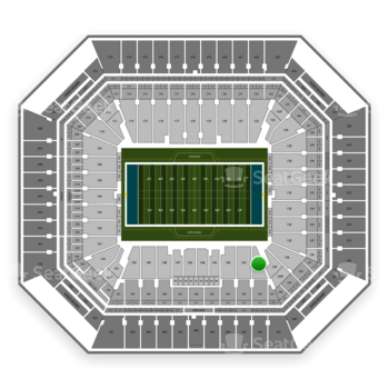 Miami Dolphins at Hard Rock Stadium Section 142 View