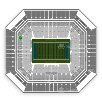 Miami Dolphins at Hard Rock Stadium Section 207 View