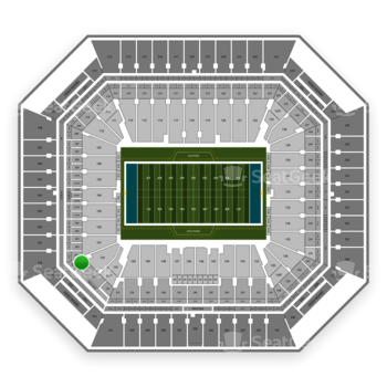 Miami Dolphins at Hard Rock Stadium Section 254 View
