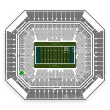 Miami Dolphins at Hard Rock Stadium Section 256 View