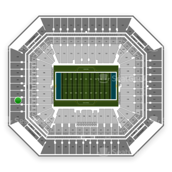 Miami Dolphins at Hard Rock Stadium Section 302 View