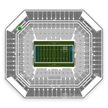 Miami Dolphins at Hard Rock Stadium Section 310 View