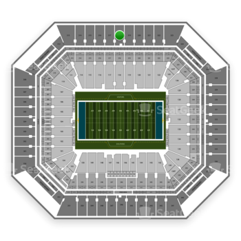 Miami Dolphins at Hard Rock Stadium Section 318 View