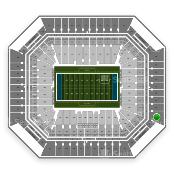 Miami Dolphins at Hard Rock Stadium Section 336 View