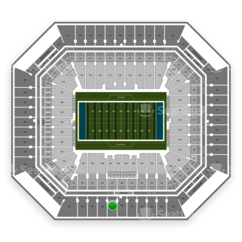 Miami Dolphins at Hard Rock Stadium Section 347 View