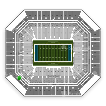 Miami Dolphins at Hard Rock Stadium Section 354 View