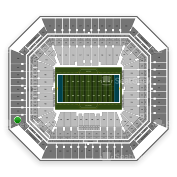 Miami Dolphins at Hard Rock Stadium Section 356 View