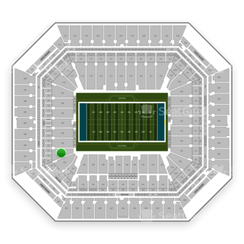 Miami Dolphins at Hard Rock Stadium Section 101 View
