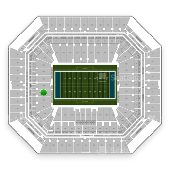 Miami Dolphins at Hard Rock Stadium Section 103 View